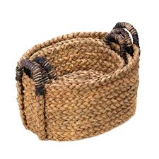 Rustic Wholesale Home Decor Wholesale Rustic Woven Nesting Baskets With Handles Trio Home Decor