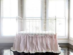 White Ruffle Crib Bedding Tie On Crib Skirt Separates Cinderella Ruffled Crib Skirt