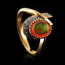 opal rings unique images Unique fire jelly opal ring silverbestbuy jpg