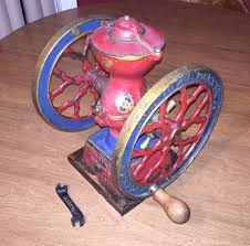 Ebay Coffee Grinder Antique 1897 Charles Parker Double Wheel Cast Iron Coffee Grinder