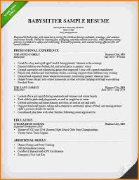 sample babysitting bio nanny resume example how to find a nanny