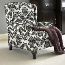 Wingback Recliners Chairs Living Room Furniture Black Floral Wingback Accent Recliner Reclining Chair Recliners