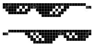 Meme Design - glasses pixel art style 8 bit thug lifestyle vector glasses