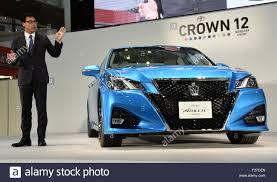 toyota motor corporation tokyo japan 1st oct 2015 chief engineer akira akiyama of