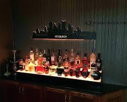 led lighted bar shelves liquor bottle shelves home bar lighted bar shelves innovation ideas