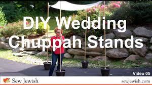 how to make a chuppah diy wedding chuppah stands sew 05