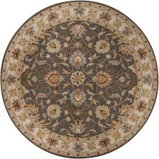 Round Rug 6 by Artistic Weavers John Charcoal Gray 6 Ft X 6 Ft Round Area Rug