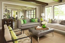 gray tufted sofa contemporary living room benjamin moore