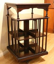 Revolving Bookcase Table Large Antique Walnut Revolving Bookcase The Merchant Of Welby