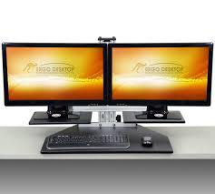Used Adjustable Height Desk by Dual Kangaroo Adjustable Height Desk Ergo Desktop