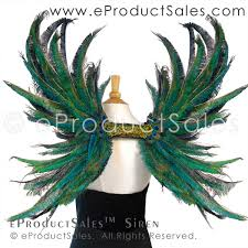 eproductsales siren iridescent peacock feather wings
