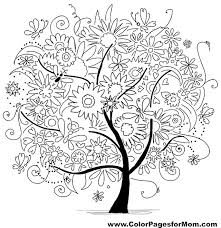 coloring pages for adults tree tree coloring page 19 coloring mandulas pinterest tree outline