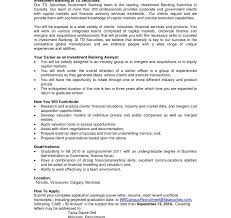 sample resume investment banking cover letter amazing photos hd