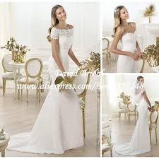 lace wedding dress with jacket the shoulder two lace top mermaid chiffon wedding