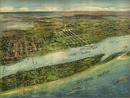 Map Of Florida Beaches by Panoramic View Of West Palm Beach Florida 1915