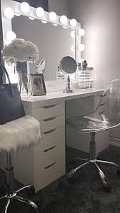 White Gloss Bedroom Drawers Makeup Vanity Makeup Vanity Modern Vanities For With Lights