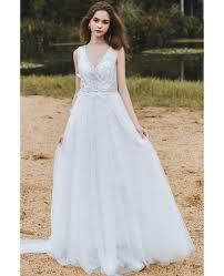 destination wedding dresses flowy a line lace wedding dress boho low back 2018