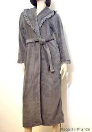 robe de chambre longue marjolaine robe de chambre longue gris polyester mercure