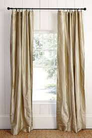 Textured Cotton Tie Top Drape by What U0027s The Best Way To Hang Your Drapery How To Decorate