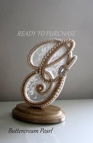 g cake topper keepsake cake topper monogram letter g vintage pearl ivory lace