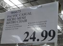 Sunvilla Bistro Chair April 2015 Costco Weekender