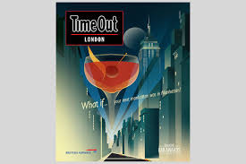 manhattan drink illustration time out london matt murphy illustration