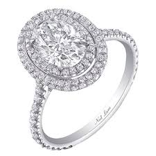 52nd wedding band neil oval diamond halo engagement ring with wedding