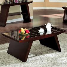 dark walnut end table tavius asian flare style dark walnut finish glass top coffee table