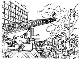 coloring pages kids sheets firefighter preschoolers fire