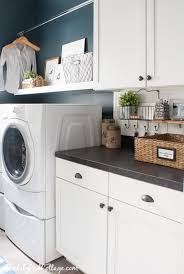 navy laundry room makeover and a giveaway the lilypad cottage