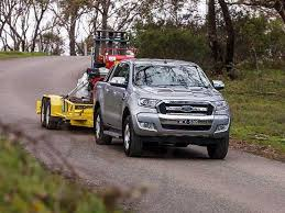 towing with ford ranger ute tow review ford ranger