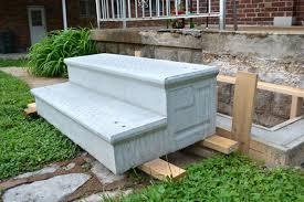 replacing our crumbling concrete porch steps lansdowne life