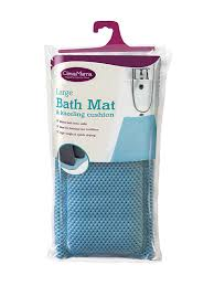 Light Blue Bath Rugs Amazon Com Clevamama Full Length Bath Mat With Kneeling Cushion
