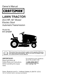 craftsman lawn mower 917 272247 user guide manualsonline com