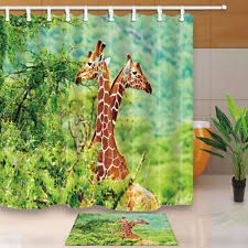 Animal Shower Curtain Animal Print Shower Curtains Ebay