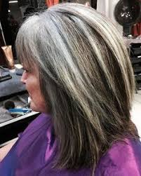 how to blend gray hair with lowlights natural grey with high and lowlights hairstyles to try