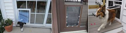 Patio Panel Pet Door by Residential Glass Shop Denver North Co The Glass Guru Of Denver