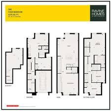 the ravine homes of buttonville in markham oak model floor plan