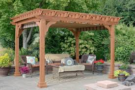 Shade For Pergola by Yardcraft Ezshade Canopy For 10 Ft X 12 Ft Cedar Pergola Wayfair