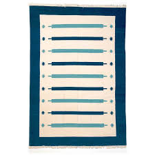 Pale Blue Rug Dhaaree Blue Pale Blue U0026 White Dhurrie Rug Mahout Lifestyle