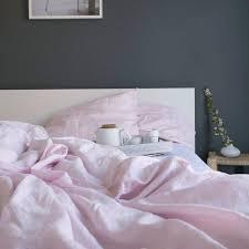 blush linen king size duvet cover piglet