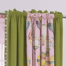 Thick Purple Curtains Printing Children Window Curtains Pink Thick Bedroom Curtain