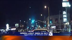 light in sky today mysterious green light streaks across southern california night sky