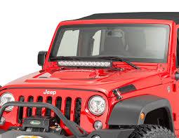 Vision X Light Bar Vision X 9890975 Led Light Bar Hood Mount Bracket For 07 17 Jeep