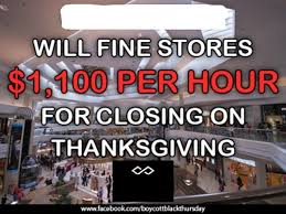 will stores be fined for not opening on thanksgiving