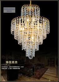 modern chandelier crystal k9 crystal 110v 220v e14 lamp golden