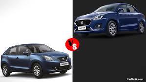 volkswagen ameo vs vento maruti suzuki baleno vs dzire pick the best one among car malik