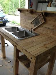 worthy outdoor kitchen sink station in wonderful home decor