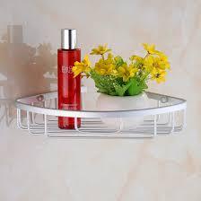 aluminium wall mounted bathroom corner shower caddies storage