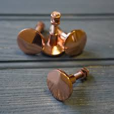 Handles And Knobs For Kitchen Cabinets Beautiful Copper Plated Cabinet Knobs To Make Your Furniture Pop